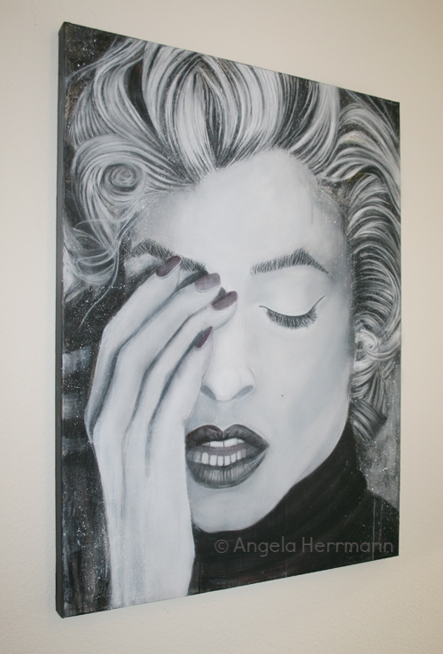 Marilyn Monroe, Acyrl und Mixed Media  Größe 90 x 120 x 5cm  SOLD