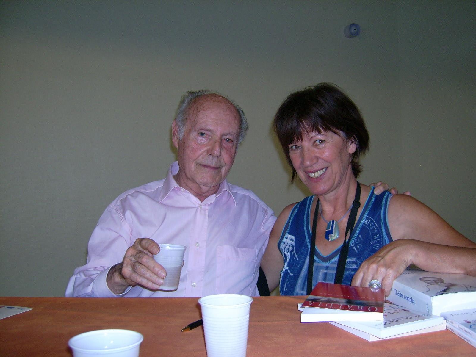 Avec René de Obaldia, Lombez 2007