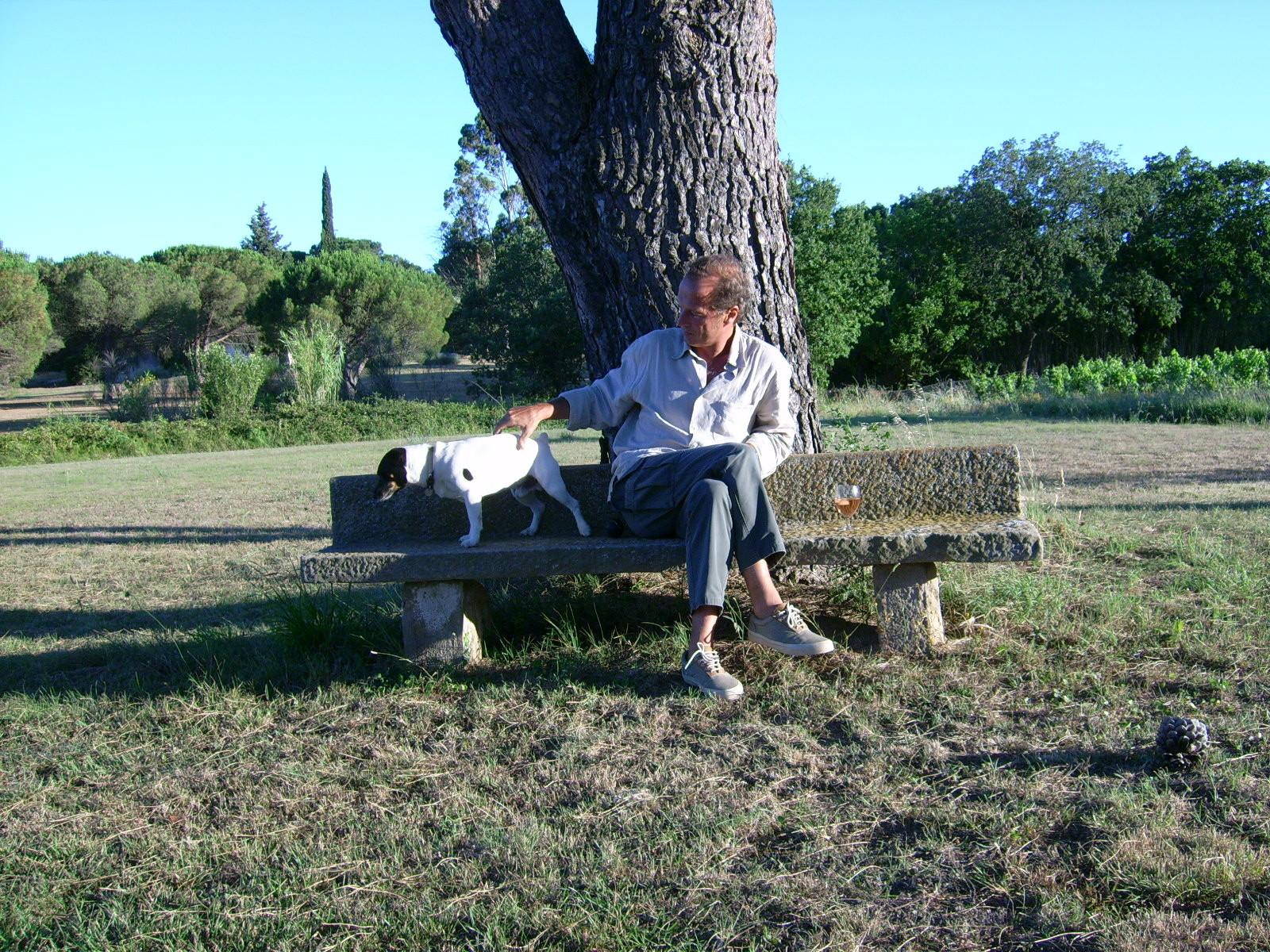 sous le pin avec Paulo