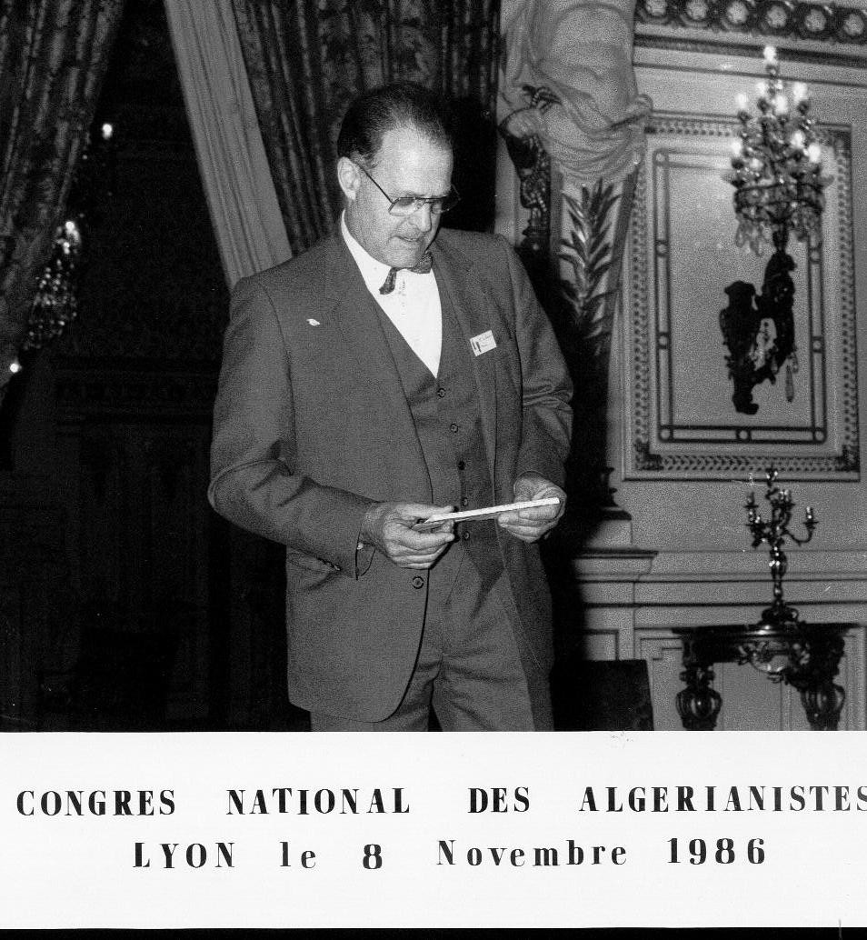 présidence du cercle Algérianiste national, 1986