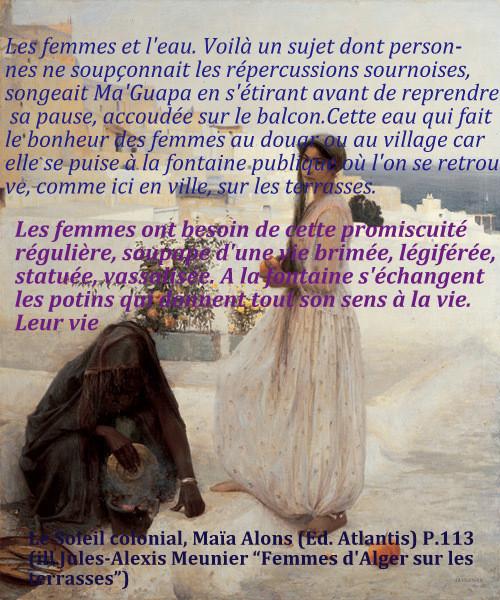Femmes d'Alger sur les terrasses par J-A Meunier