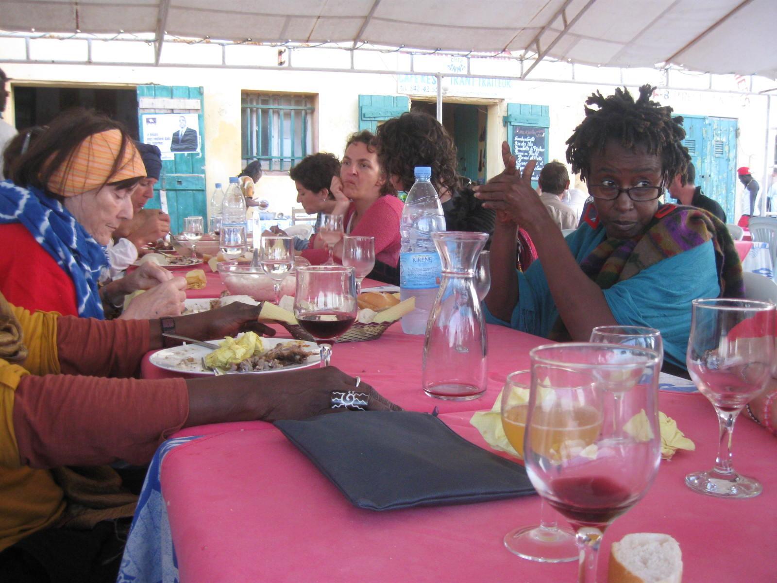 au restaurant chez Germaine, île de Gorée