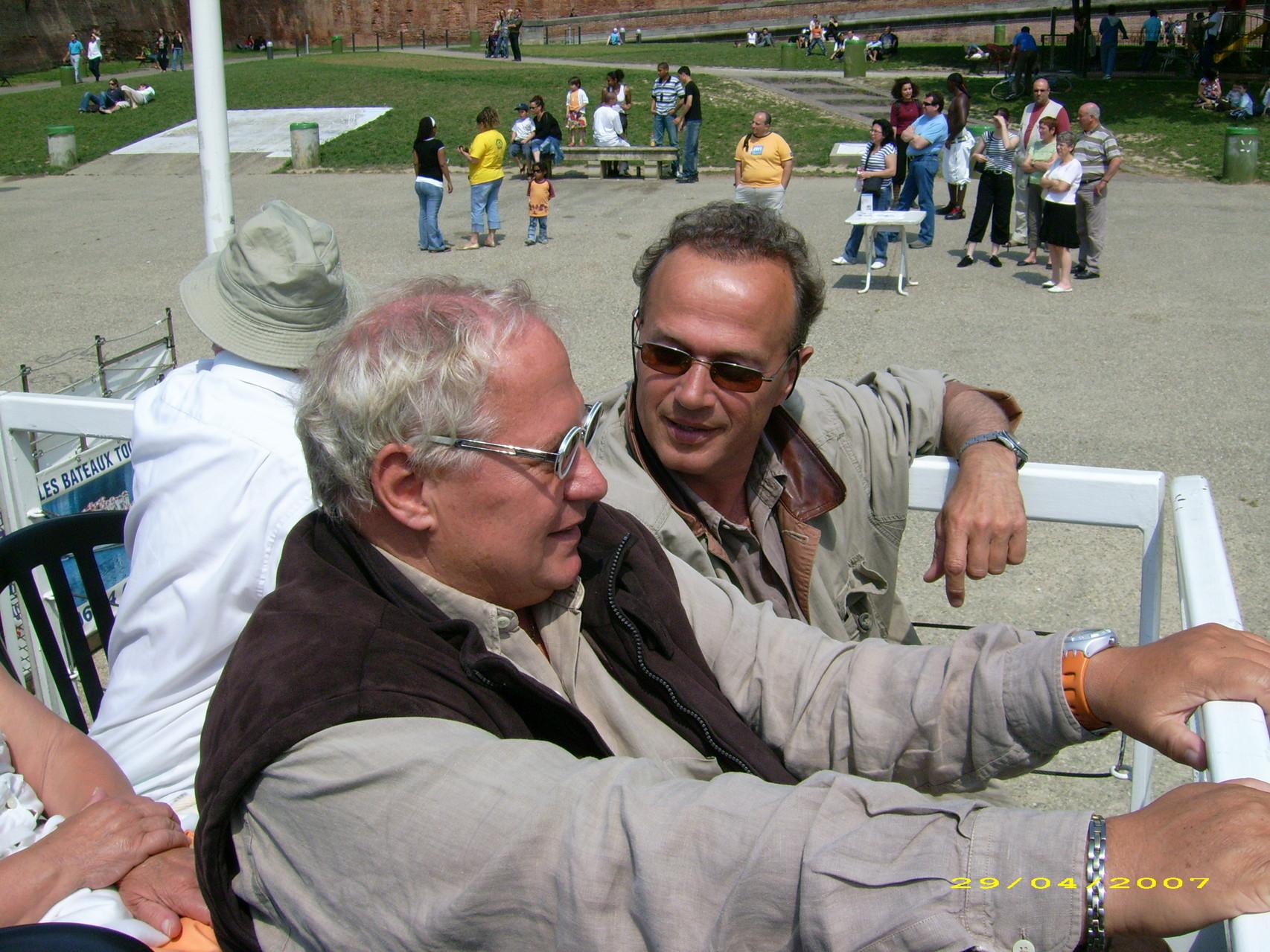 avec Jean-Charles Courcot sur la Garonne à Toulouse