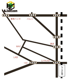 渋谷東急ハンズ先、マンハッタンレコード隣りのビルです
