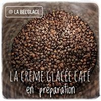 Préparation de la crème glacée café