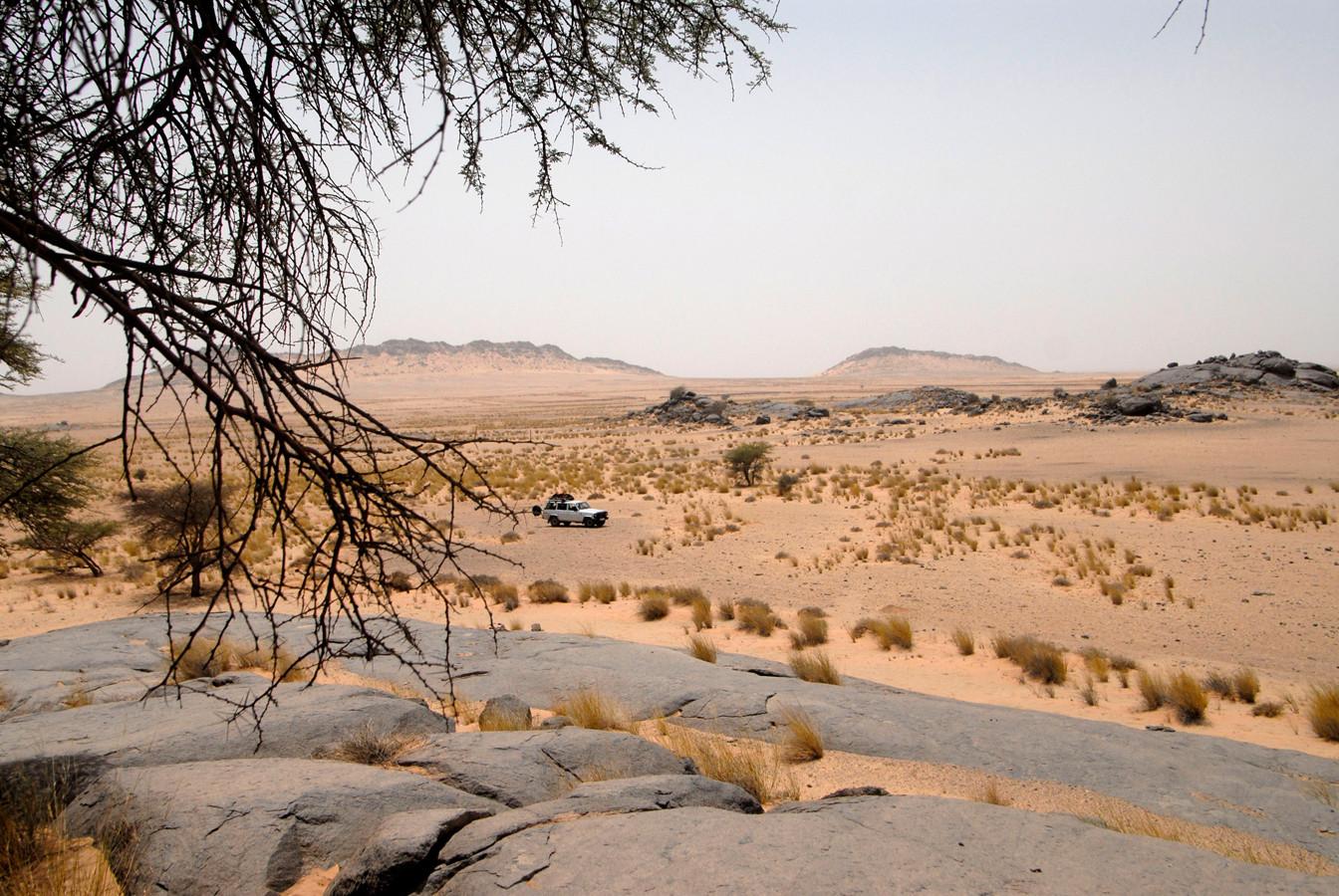Massif de Deraman. Avant Aousserd, Sahara atlantique ©Michel AYMERICH