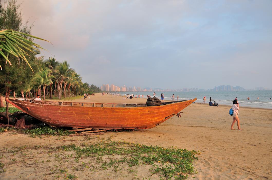 Vues sur la baie de Sanya  (plage de Tianya) et la Mer de Chine méridionale 三亚海湾(天涯海滩)和中国南海的美景