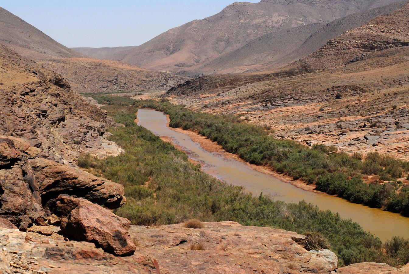Oued Drâa,  Tigit, Maroc ©Michel AYMERICH