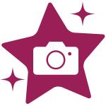 Etoile avec appareil photo - lien vers retour en image