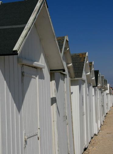 Strandkabinen in Bernières sur Mer