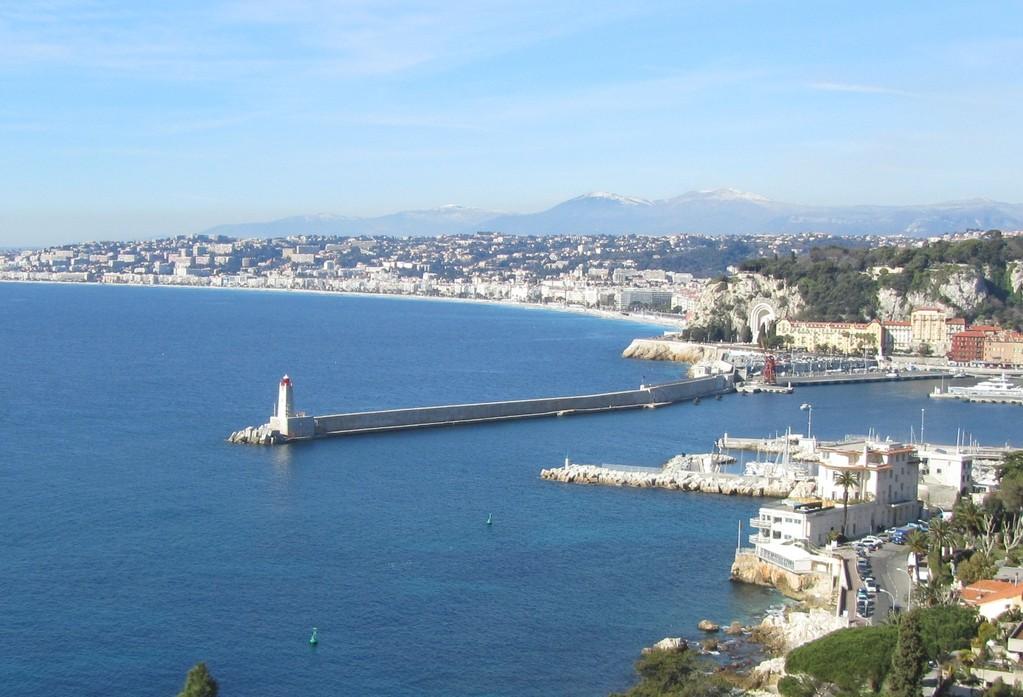 Blick über die Bucht vón Nizza