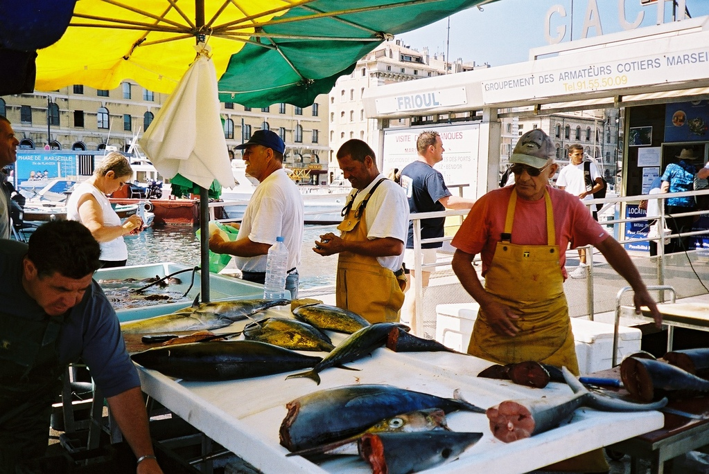 Fischmarkt in Marseille
