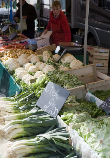 Markt (sonntags) in Port-en-Bessin