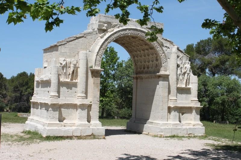 Ruinen der römischen Stadt Glanum