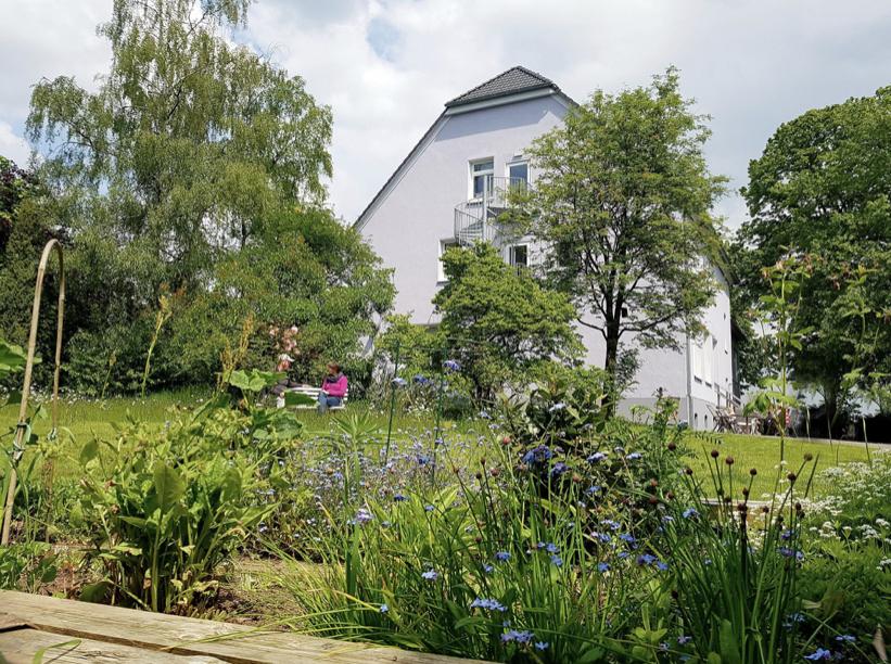 Der  Garten für Yoga unter freiem Himmel