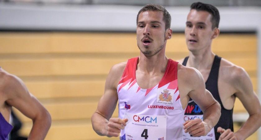 3ème Record national indoor du 1500m pour Charel Grethen (3'38''65) au CMCM Meeting