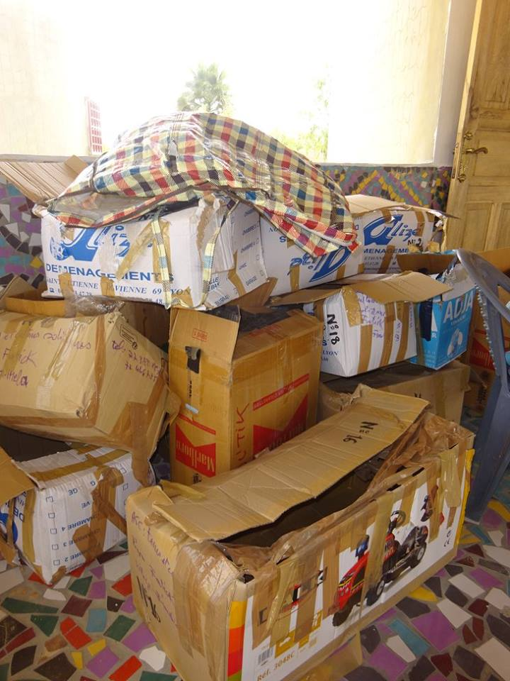 Les cartons amenés par Eifage