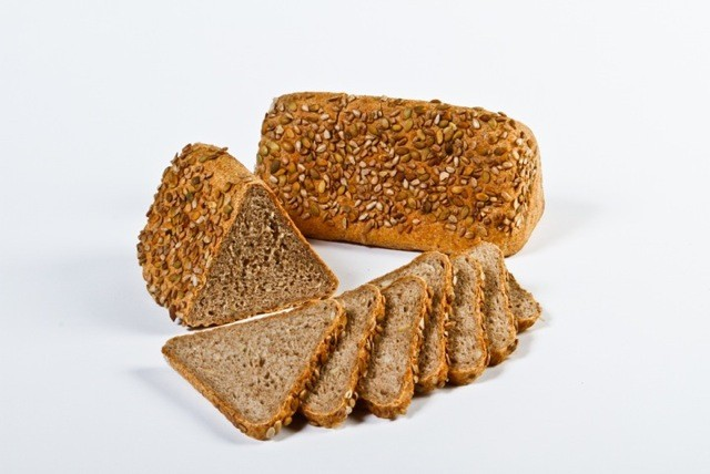 Weinheimer Brot (Seeded Loaf) - A 50/50 % Whole Rye Whole Wheat Mixture with wheat flour, whole rye flour, wheat meal, oat flakes, sunflower seeds, pumpkin seeds, barley malt, yeast, filtered water, sea salt.