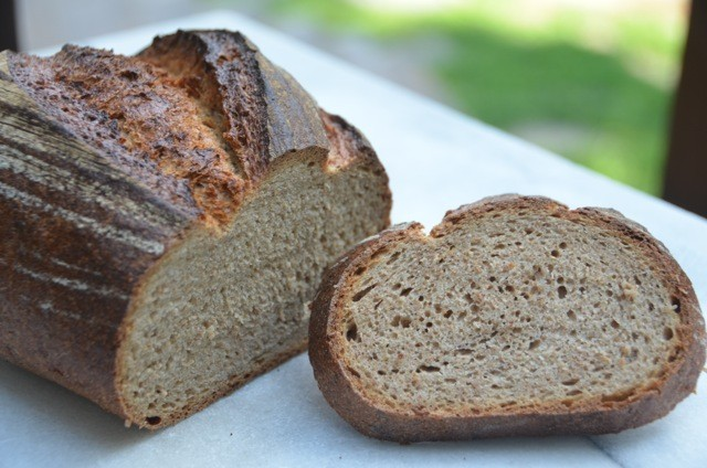 Landbrot - Traditional German rustic loaf. Consists of 50% Whole Rye Flour, 50% Whole Wheat Flour, and Bavarian spices.