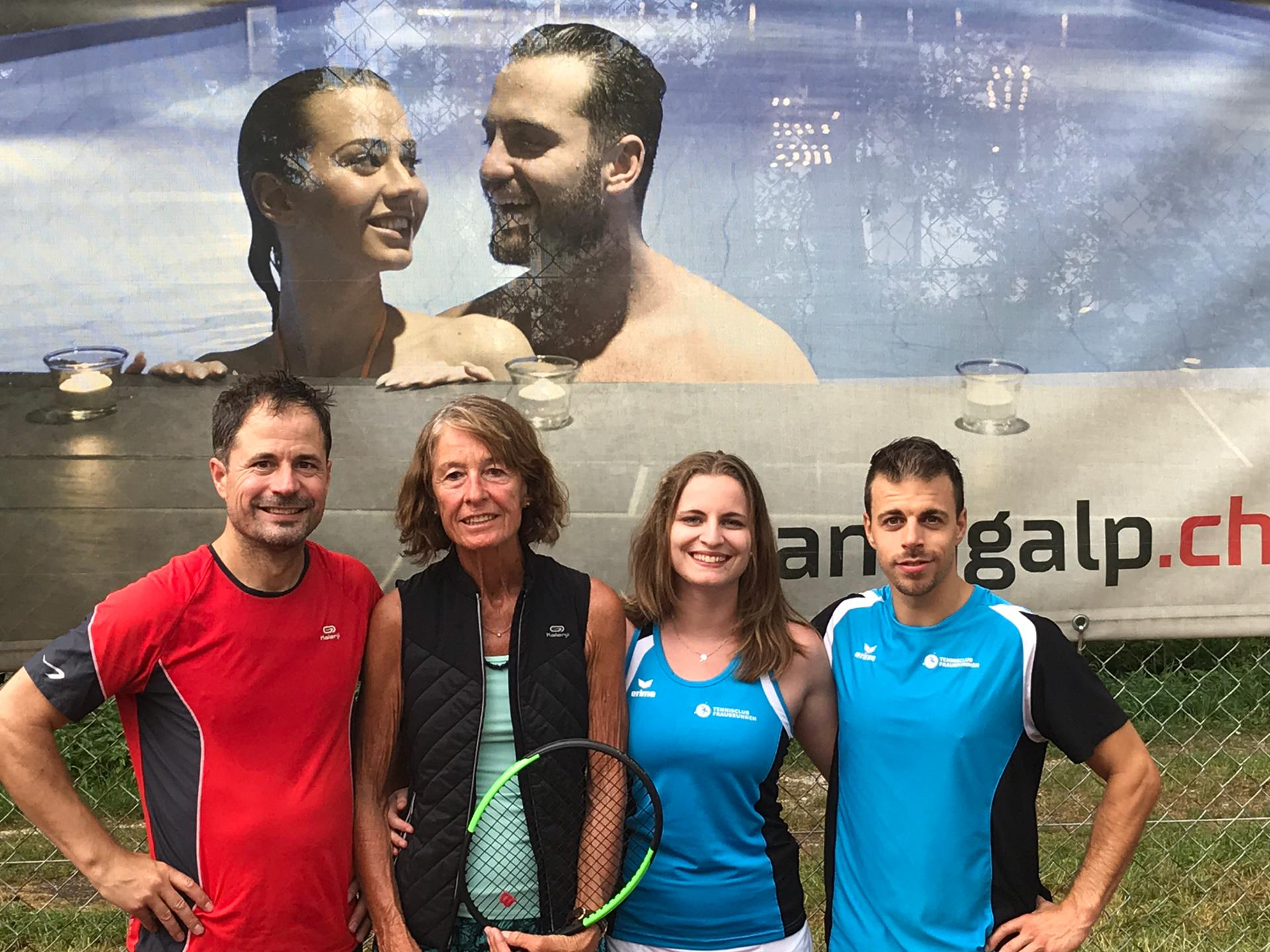 2019 Mixed Doppel Sieger: F. Aeberhard & M. Schläfli / Finalist: Ch. Fricker & E. Fricker