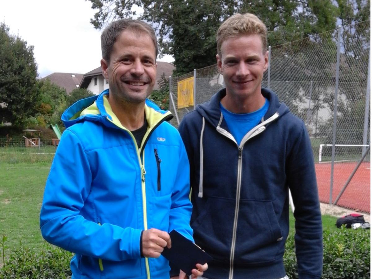 2015 Herren Einzel Sieger: Christoph Fricker / Finalist: Martin Sommer