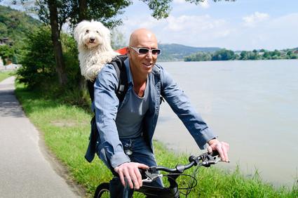 Urlaub am Bauernhof mit Bike und Hund.