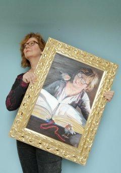 Portrait of a reading women, wedstrijd lang leven Rembrandt