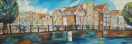 Blue monday at the canal Amsterdam     30x80cm