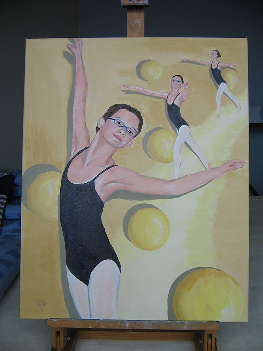 Ballet rond 40x50 cm 2005 ntk