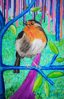 47.Robin Hochney style 40x60 cm