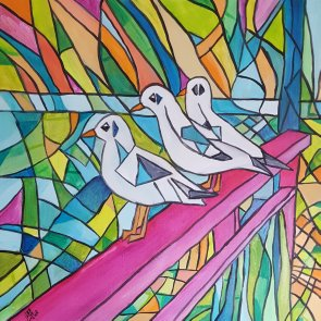 Seagull brothers 50x50cm