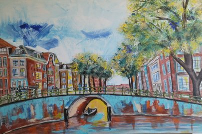 Summerday in Amsterdam     40x60cm