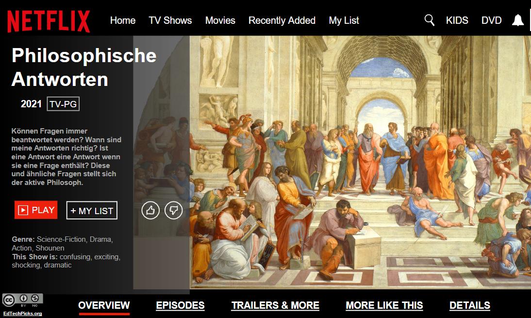 Philosophie auf Netflix per Powerpoint-Template
