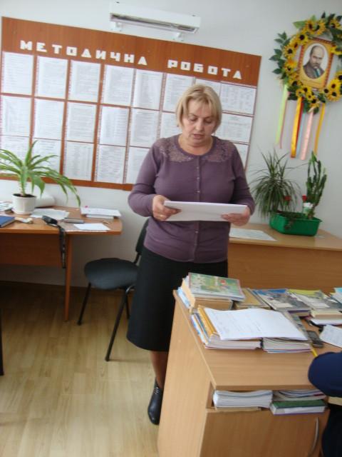 ЗНВР Кулик О.В. доповідає про підсумки ДПА у 4 та 11 класах
