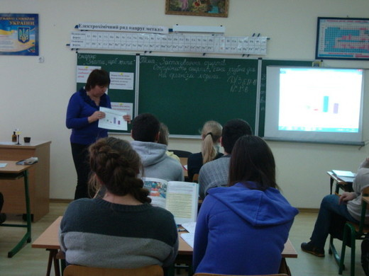 Вчитель оперувала статистичними даними для досягнення навчальної і виховної мети