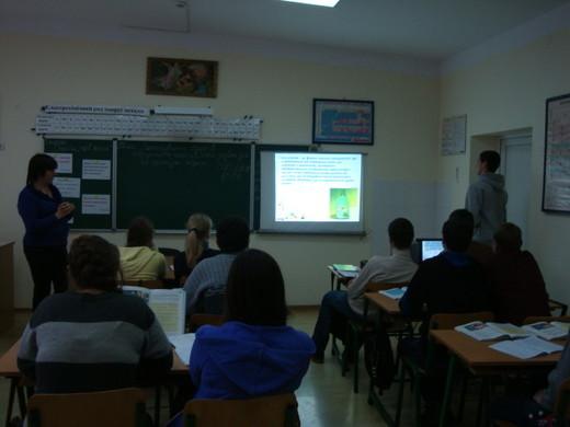 Учні показали свої презентації по темі уроку