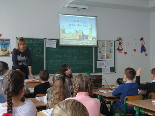 Відкритий урок Ткач Ірини Степанівни був організований як уявна подорож 4 класу до Лондона