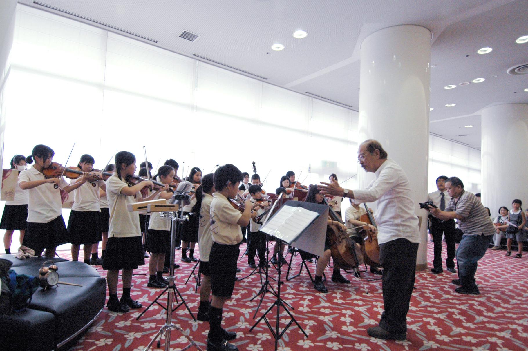 恒例開演前の広島ジュニアオーケストラによる演奏!