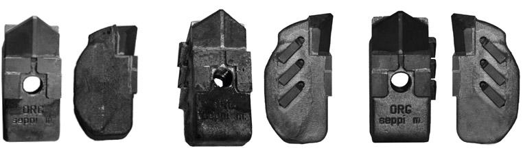 Werkzeuge MONO PROTECT und MONO EXTREME L/R für SEPPI M. FC Wurzelstockfräse
