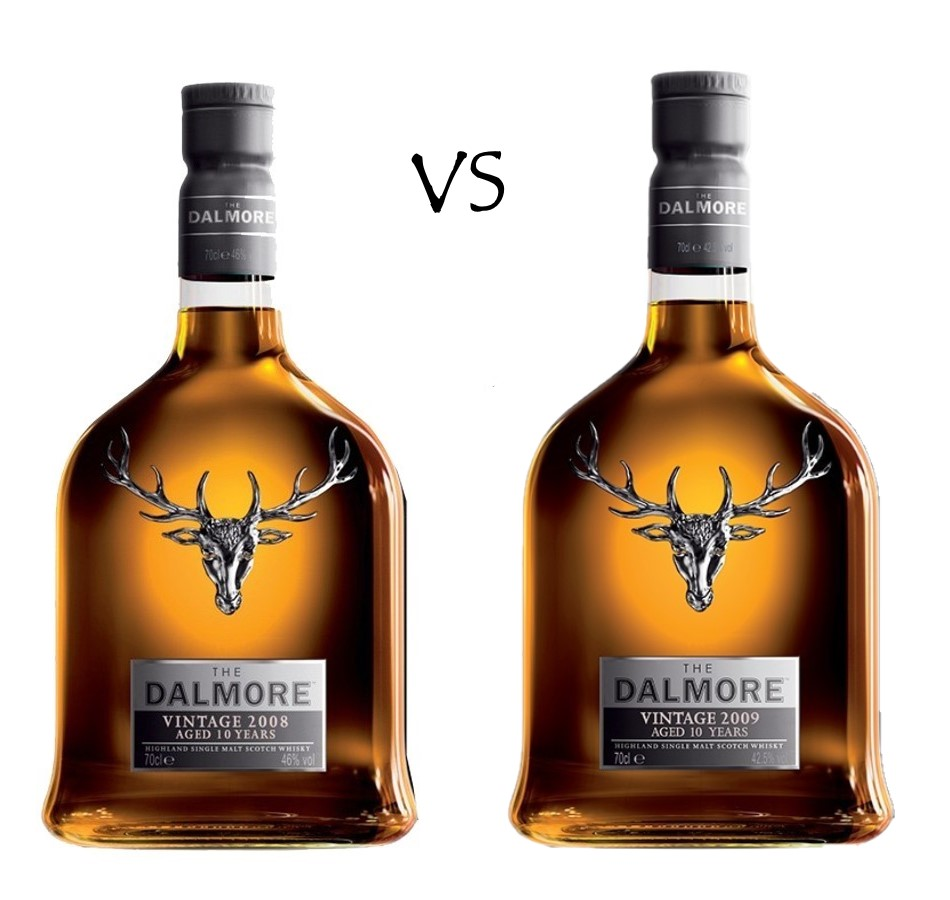 THE DALMORE 2008 VINTAGE MADEIRA FINISH vs 2009 VINTAGE SHERRY FINISH