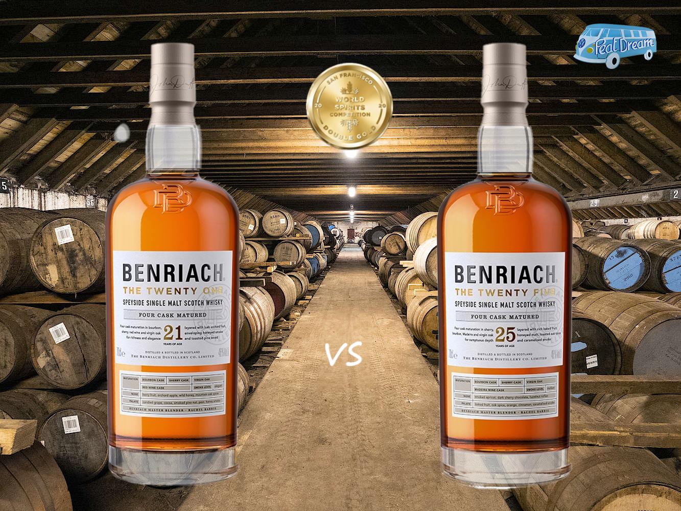 BENRIACH THE TWENTY ONE vs THE TWENTY FIVE