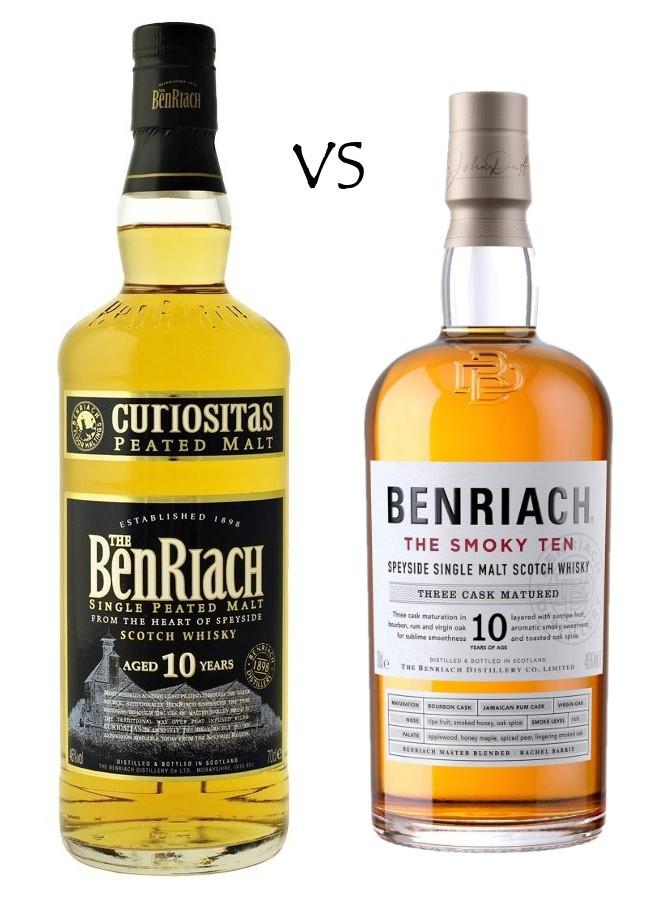 BENRIACH 10 ANS CURIOSITAS vs SMOKY TEN