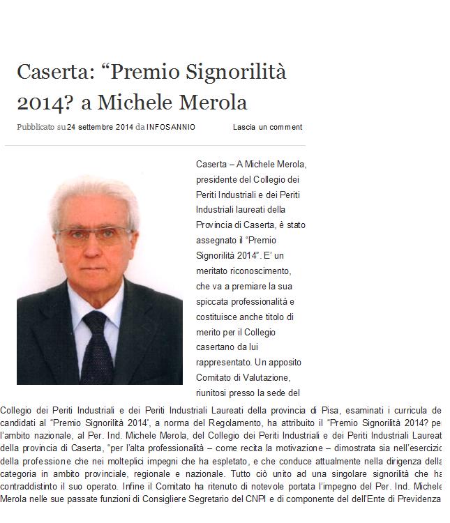 PREMIO SIGNORILITA' 2014.