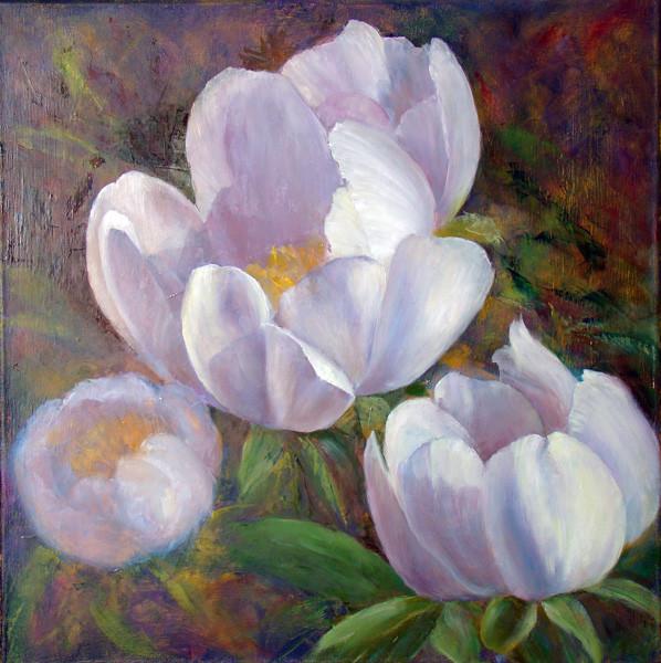 11. Уточнение рисунка второго центрального цветка