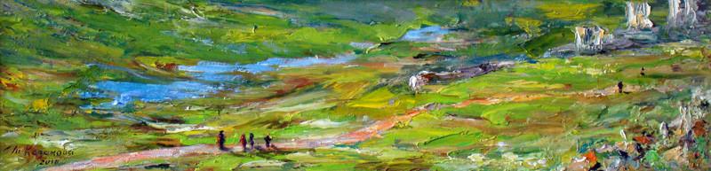 Татьяна Казакова. Дорога домой. 2010. Оргалит, мало. 15х59,5 см. Цена - 12000 руб.