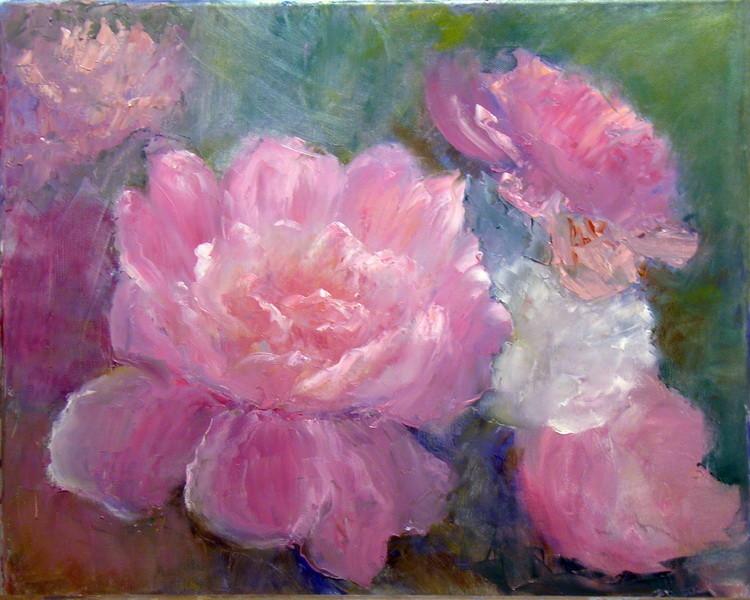 4. Уплотнение массы цветов