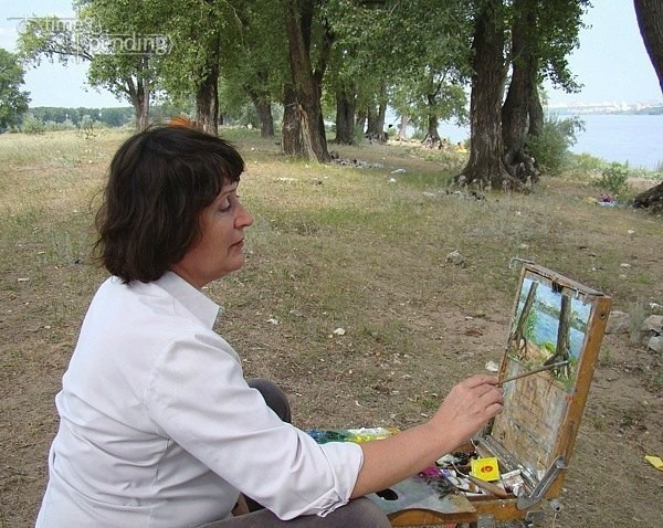 Татьяна Казакова на пленэре