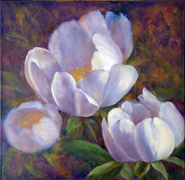9. Уточнение рисунка центрального цветка