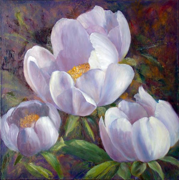 12. Уточнение рисунка левого нижнего цветка