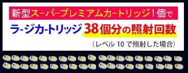 スーパープレミアムカートリッジのレベル10照射回数